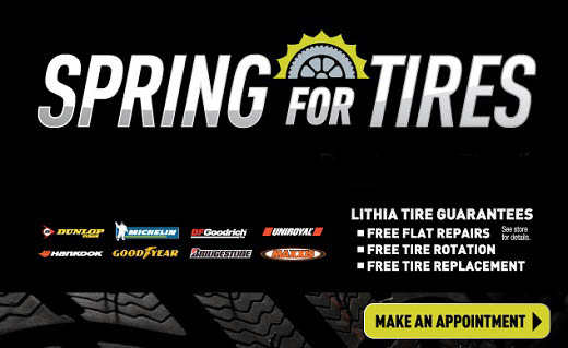April Tire Event - Spring for Tires! $50 gift card when you buy 4 tires!